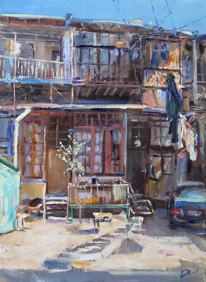 "Давид Гедеванишвили ""Sunny yard, Tbilisi"" (""Солнечный дворик, Тбилиси""), 2016"